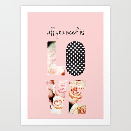 Love in Blush Art Print