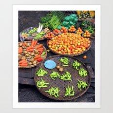 Street Vegetables Art Print