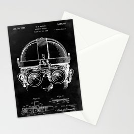 Welding Goggles Blueprint Stationery Cards