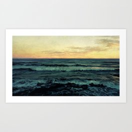 Alamillo Beach Sunset Art Print