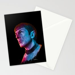 "Homage to Leonard Nimoy - Mr. Spock ""Star Trek"" (colored version) Stationery Cards"