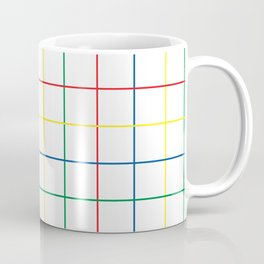 Primary Windowpane Grid Coffee Mug