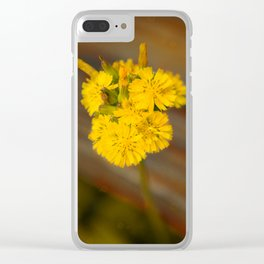 Yelow Flower Clear iPhone Case