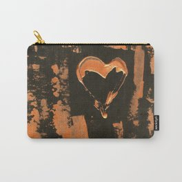 Liquid Copper Heart Carry-All Pouch