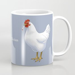 Funny Fried Chicken Pot Smoking White Hen Coffee Mug