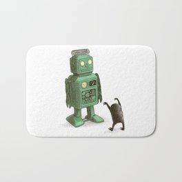 Robot vs Alien Bath Mat