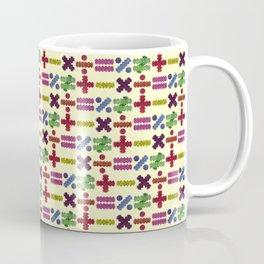 Seamless Colorful Abstract Mathematical Symbols Pattern IV Coffee Mug