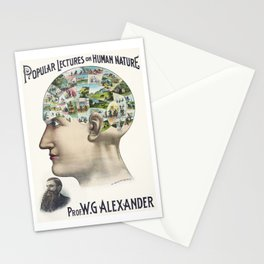 Vintage Phrenology Chart | The Human Brain | Vintage Charts |  Stationery Cards