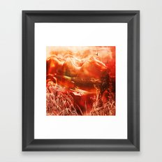 Red Wax Mountains Framed Art Print