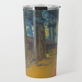 Azalea Garden (Teahouse) 1938 Vintage Beautiful Japanese Woodblock Print Hiroshi Yoshida Travel Mug