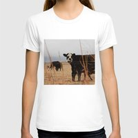 cows T-shirts featuring Moo Cows by Artwork by Brie