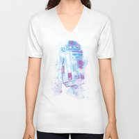 r2d2 V-neck T-shirts featuring R2D2 by Sitchko Igor