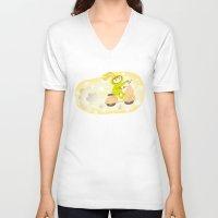 moto V-neck T-shirts featuring Zayaz & Moto by Olya Yang