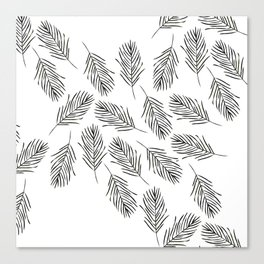 Black leaves Canvas Print