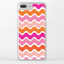 Wiggling Rainbows Clear iPhone Case