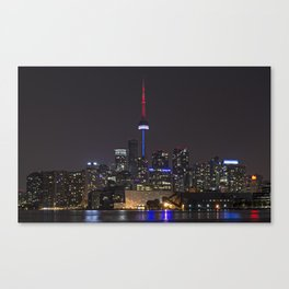 Toronto at Night 2 Canvas Print