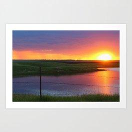 North Dakota Sunset Art Print