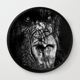 The Wise Simian (Gorilla) Wall Clock