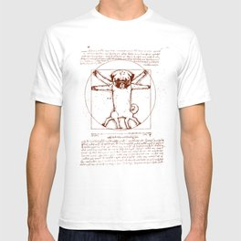 Vitruvian pug T-shirt