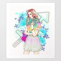 sagittarius Art Prints featuring Sagittarius by Sara Eshak