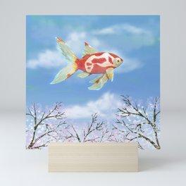 Flying goldfish Mini Art Print