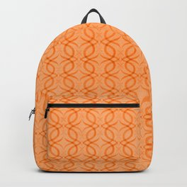 Retro Tangerine Print Backpack