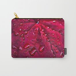 Pink Leaf Pattern Carry-All Pouch