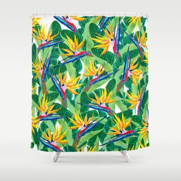 Summer Strelitzia Shower Curtain