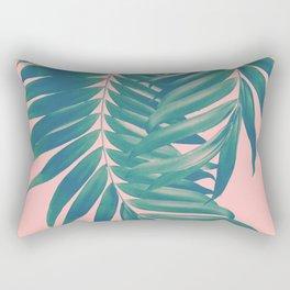 Palm Leaves Blush Summer Vibes #4 #tropical #decor #art #society6 Rectangular Pillow