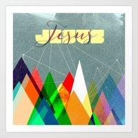 jesus Art Prints featuring Jesus by Walk the Same | Votum