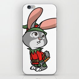 Elves Christmas fable gift Gnome dwarfs iPhone Skin