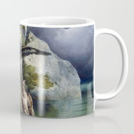 Friedrich Gauermann Adler and Dying Stag Lakefront Coffee Mug