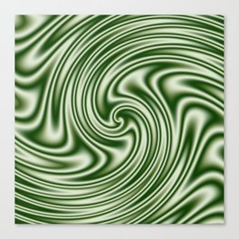Spearmint Ribbon Candy Fractal Canvas Print