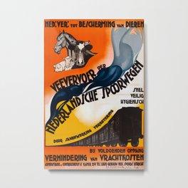 Vevervoer 1931 Vintage Travel Poster Metal Print