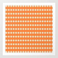Circular Orange Dots Pattern Art Print