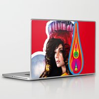 bjork Laptop & iPad Skins featuring BJORK - VOLTA by Denda Reloaded