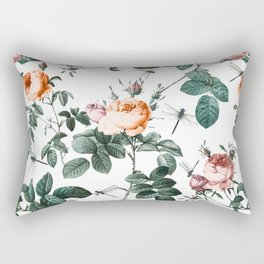 Floral and Winged Darter Rectangular Pillow