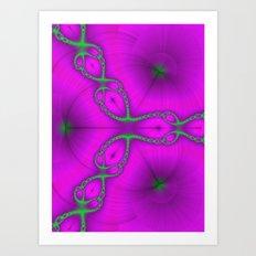 Fractal Chain Art Print