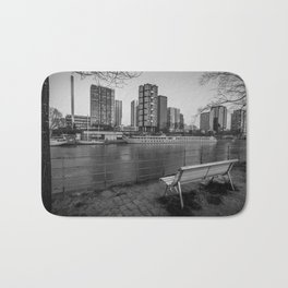Paris-New York (Black and white) Bath Mat