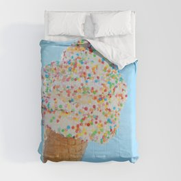Summer ice cream with rainbow sprinkles Comforters