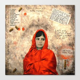 MALALA MUST DIE Canvas Print