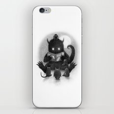 Story Time (black and white option) iPhone & iPod Skin