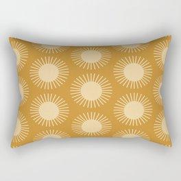 Golden Sun Pattern II Rectangular Pillow