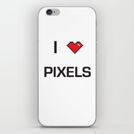 I heart Pixels iPhone Skin