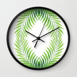 Palm Circle, Letter O, Zero Wall Clock