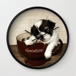 Cup of Puppy Wall Clock