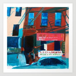 Late Day Time Chinatown NYC Art Print