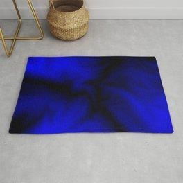 Discharge of cosmic blue energy lightning in dark space.  Rug