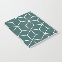 Cube Geometric 03 Teal Notebook