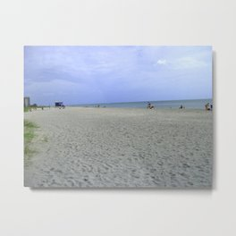 Vacancy on the Beach Metal Print